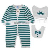 High Quality Lovely Newborn Infant Long Sleeve Wholesale Baby Snap Crotch Bodysuit Baby Clothes