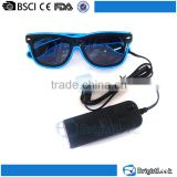 Bulk buy wholesale cheap plastic fashion men retro party flashing led glow in dark sunglasses polarized
