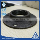 "high quality 1/2' 1/4"" 3/4"" 1"" thread black iron pipe floor flange with free sample"