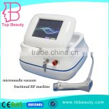 Portable 49 pins electric fractional rf microneedle machine with vacuum stretch mark removal for beauty salon