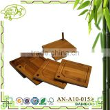 Aonong HealthPro Bar 5 Piece Organic Moso Bamboo Heavy Duty Round & Square Coaster Set