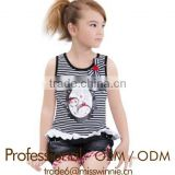 Children cotton t shirt girl sport clothes sets professional kids suits factory supplier