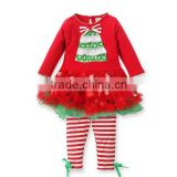 Fashion baby girls christmas clothing sets New Arrival Children New Year Cothing Kids outfits and sets