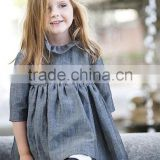 Brand New Girls Dresses Wholesale grey 2 piece long sleeve Dress autumn Party elegance Kids Dresses