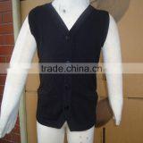 baby kids v-neck button down sleeveless sweater vests with pockets