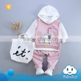 2016 Baby stocks fall outfit hooded clothing set arabic names for girls photo baby clothes