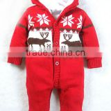 Pure cotton made lining cute knitted pattern , baby onesie newborn baby jumpsuits online shop china