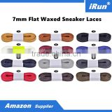 Wax Shoelaces Flat Cotton Leather Accessories for All Court-Cross Shoes - All Size - 7-10mm width - Accept Custom