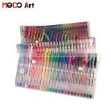 2017 Hot Sales Foldable PVC Bag Packing Gel Pens 100 Set Metallic Glitter Neon Gel Pen Set
