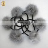 Mink Fur Ball Hair Accessories Pompon Fur Key Chain Fur Pompoms