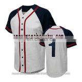 2017 Men Custom Design Baseball Jersey / new design sublimation baseball jerseys top for team