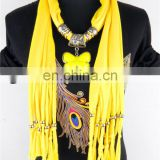 Bright color butterfly pendant jewelry scarves best selling wholesale