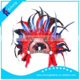 Feather headdress Rooster feather Indian Headdress for Carnival