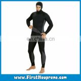 Factory Custom Black 5mm Neoprene Mens Spearfishing Wetsuits With Jacket And JumpSuit Pants