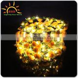 high quality Adjustable light up led flower crown garland wreath headband for wedding reviews