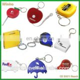 Personalized Tape Measure Keychain With Logo