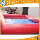 Red color inflatable pool slides for inground pools good sale giant inflatable unicorn pool float