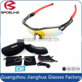 Safety glasses for cycling best selling interchangeable lenses bike sunglasses with hard box