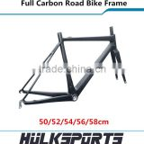Ultra light 700c road bicycle frameset 3K/UD BB30 full carbon road bike frame with fork and seatpost road carbon frame Di2