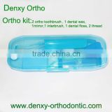 Dental orthodontic teeth cleaning kit oral care kit orthodontic oral hygiene kit