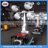 2016 hengwang special vehicle mounted night scan tower light and telescopic Lighting system and high mast light