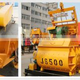 Block concrete mier machine for HZS25 concrete batching mierJS500, interblock miing machine 0.5m3