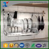 China Manufacturer high quality Stainless Steel Kitchen Dish Drying Rack Plate Cup Drainer Tray