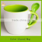 starbucks ceramic mug with spoon / handle / box, colored coffee mugs for sale, ceramic mug manufacturer
