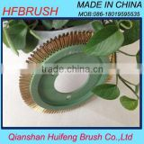 Brass wire brush for polishing