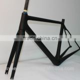 Supply with fork, seat post, headset and seat clamp, OEM available, light weight full carbon aero road frame 700c CRF12