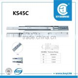 Hot sale drawer fittings, drawer runner, ball bearing telescopic channel                                                                         Quality Choice