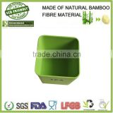 Air fresh clean square bamboo fiber canister,bamboo fiber food storage box