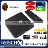 M8S Amlogic S812 Set top box 4K Android TV BOX 2GB/8GB Dual Band WIFI Android 4.4 Smart TV BOX