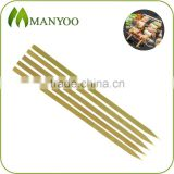 Eco-friendly flat disposable barbecue skewers made of natural bamboo