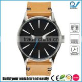 blue second hand comfortable mens wrist quartz stainless steel case watch with week and calendar