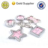 wholesale blank rhinestone crystal metal custom logo engraved dog tags