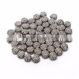 Top Quality 8mm Chrysanthemum Tibetan Silver Flower Metal Spacer Beads 50pcs per Bag For Jewelry Making Findings