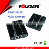 1080P HDMI Extender Folksafe Model FS-HD2001E, Transmits or Receivers HDMI signal via 2 standard UTP cable cat5e/6