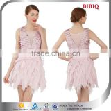ballroom dance dress patterns women short frock ostrich feather cocktail dress prom fish scale velvet designer dresses