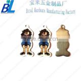 Printed steel baby cartoon photos phone pendants