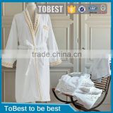 ToBest Hotel supplies factory wholesale High quality 5 star hotels 100% cotton bath robe