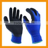 Good Dexterity Abrasion Resistant Black Latex Coated Acrylic Gloves                                                                         Quality Choice