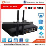 New Arrival CSA91 Android 5.1 TV Box RK3368 Octa Core 2G+16GB 4K Smart Media Player 3 USB Port Dual WiFi antenna Bluetooth 4.0