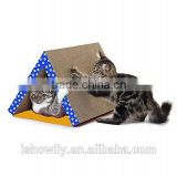 Fold Away Cat Scratching Tunnel Toy Brand Scratch Board Post Pad Scratcher