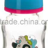 Wholesale factory price good quality BPA free 4oz 120ml standard neck glass feeding baby bottle