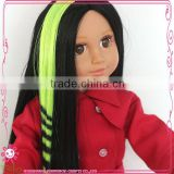 Toy accessories 18 inch baby doll hair wigs