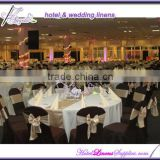 white polyester banquet rectangle tablecloths wedding table center pieces with satin table runners