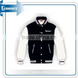 black and white mens customized varsity jacket