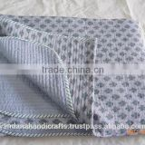 Hand Block Print Baby Warm Cotton Quilt Printed ,Bed Sheet Manufacture in India, Custom Size