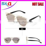 CAT eye women sunglasses METAL frame glasses female brand Golden half frame sun glasses                                                                         Quality Choice